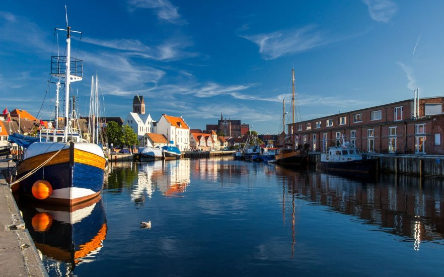 Old port in the Hanseatic city of Wismar, © Tourismuszentrale Wismar, Alexander Rudolph