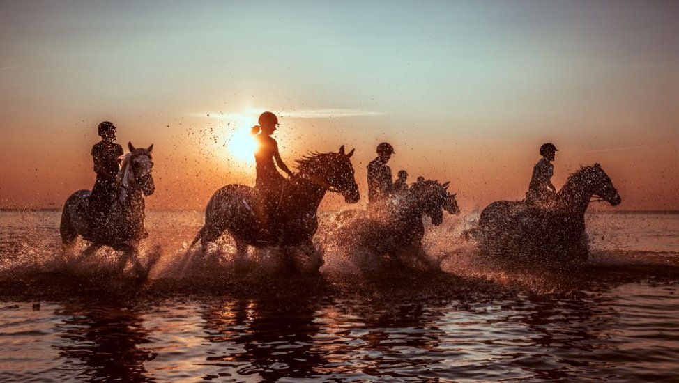 Riding through the water, © Liene Photografie Nadine Sorgenfried