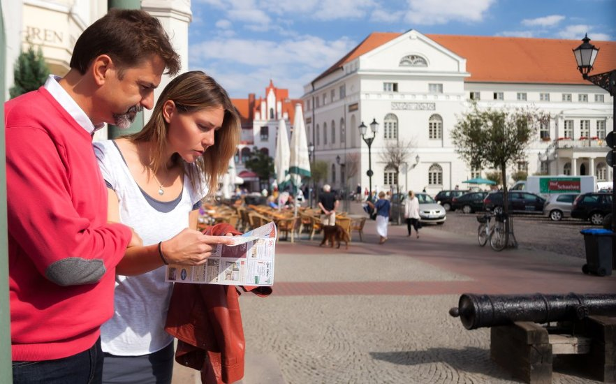 In front of the town hall Wismar, © VMO, Alexander Rudolph